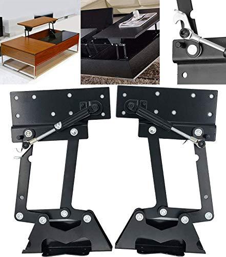 Couchtisch Mechanismus Hardware, Tischlift Top Couchtisch 1Paar großer Last: 50kg/100lb Folding Lift Up Top Tisch Hardware Scharniere Spring Coffee Desk Standing Mechanism Frame YOMERA