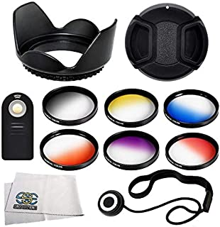 + Lens Cap Holder 77mm Digital Nc Canon EOS Rebel T5i Lens Cap Center Pinch Nwv Direct Microfiber Cleaning Cloth.