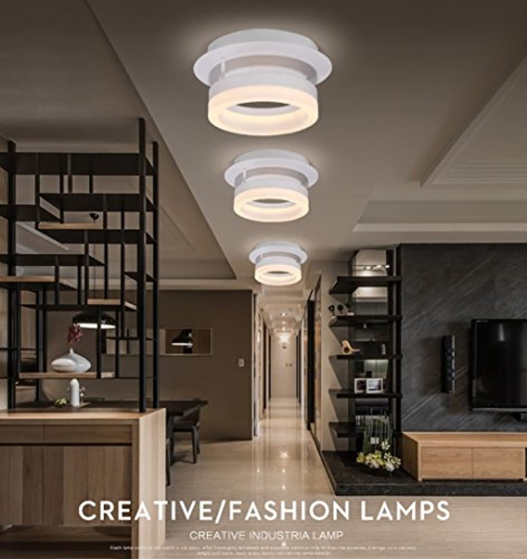 Gute Qualitt- Runde LED-Decken modernen minimalistischen Schlafzimmer kreative Mode Persnlichkeit Wohnzimmer Schlafzimmer Balkon Gang Restaurant Decke -Efficiency A+++ (form   One)