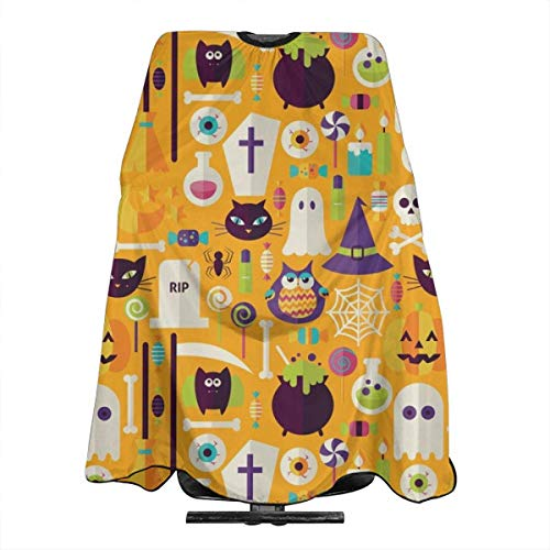 Tiny Halloween Workshop On Orange Haircut Hairdressing Cape Cloth Apron Hair Styling Hairdresser Cape Barber Salon