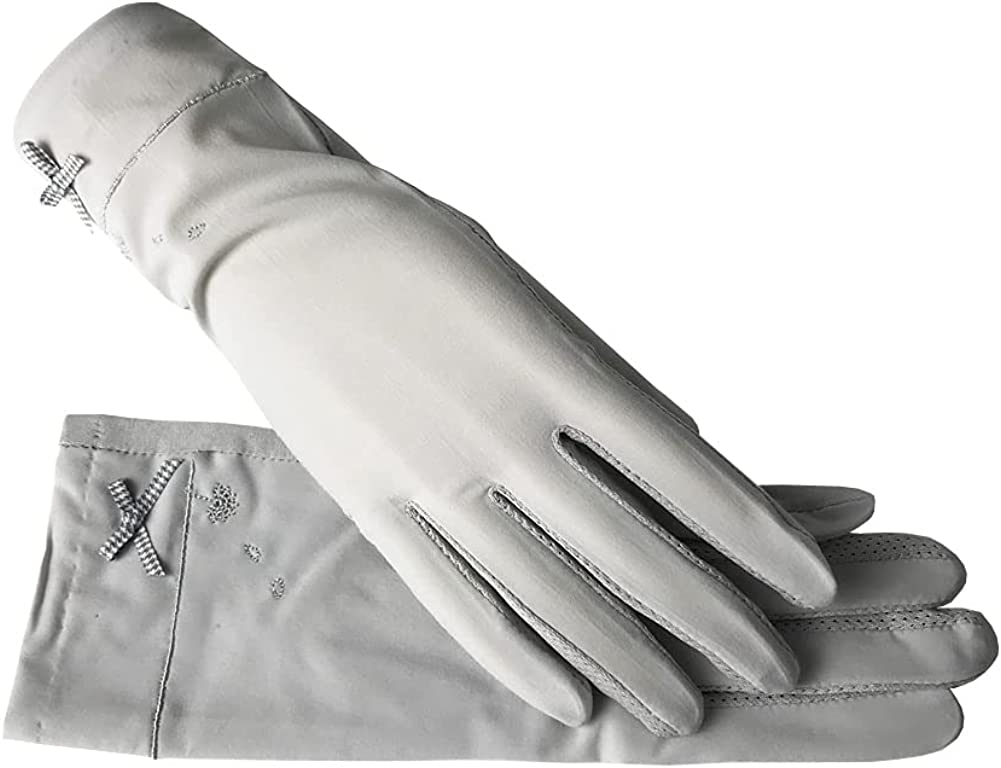 Women's Driving Gloves Cotton, Sun Block Gloves Summer Sun UV Protection, Soft and Breathable