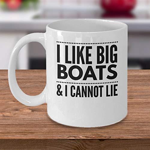 boot geschenken ik hou van grote boten ik kan niet liegen grappige goedkope koffie mok