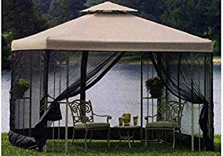 The Outdoor Patio Store Replacement Canopy for Garden Treasures 10 Ft. x 10 Ft. Gazebos High-Grade 300D Polyester Fits S-577-1 Grommet Holes
