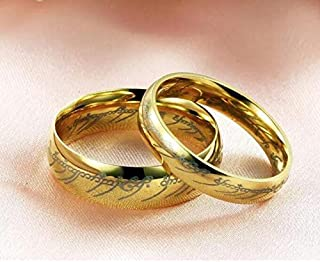 Lord of the Rings wild tungsten steel ring for couple size female US7 male US9
