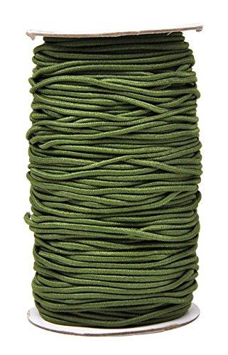 Mandala Crafts Elastic Cord Stretchy String for Bracelets, Necklaces, Jewelry Making, Beading, Masks (Olive Green, 2mm 76 Yards)