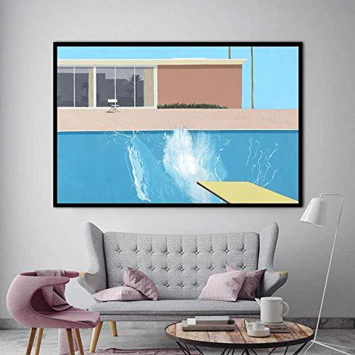 wangjingxi David Hockney Eine Größere Splashist Benutzerdefinierte Heiße Neue Kunst Poster Top Leinwand Wohnkultur Wandbild Drucke 45X60 cm