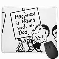 【2021新款】マウスパッドhappiness Is Hiking With My Dog マウスパッドゲーミングマウスパッド大型ゲーミング滑り止めハイエンド流行のファッション防水耐久性滑り止めラバーボトム 25*30cm