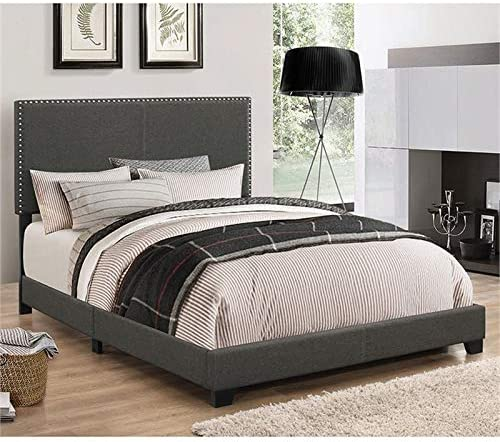 BOWERY Baltimore Mall HILL California King Low Profile Charcoal in Max 52% OFF Gray Bed