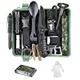 SUPOLOGY Camping Gifts for Men Dad Boy, 18-in-1 Survival Kit, Survival Gear with Water Filter Straw Raincoat, Hiking Emergency Kit Cool Gadgets Survival Tools for Adventures, Fishing, Hurricane
