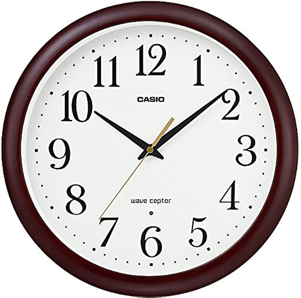 朝の体操をするカヌー競争力のあるCASIO(カシオ) 掛け時計 電波 アナログ ウェーブセプター 木枠 ダークブラウン IQ-1109J-5JF