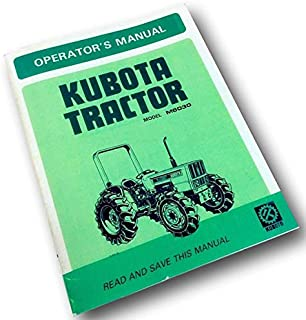 Kubota M6030 Tractor Operators Owners Manual Maintenance Utility Operation