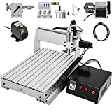 VEVOR Macchina per Incidere 6040 4 Assi CNC Incisore Metallo Professionale 600x400mm MACH3 Engraving Milling Machine con USB
