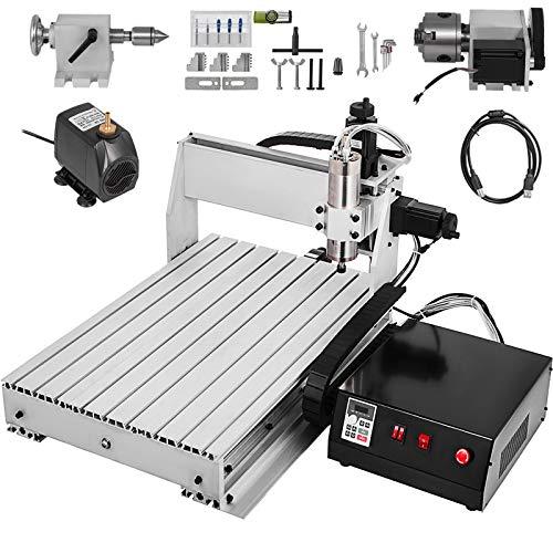 VEVOR Macchina per Incidere 6040 4 Assi CNC Incisore Metallo Professionale 600x400mm MACH3 Engraving Milling Machine con USB