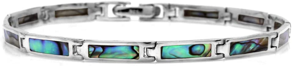 Abalone Shell Fresh Water Pearl and Sterling Silver Cuff Bracelet bablj2856