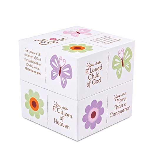 Lighthouse Christian Products In Christ Butterfly Scripture Box, 3 1/4 x 3 1/4 x 3 1/4