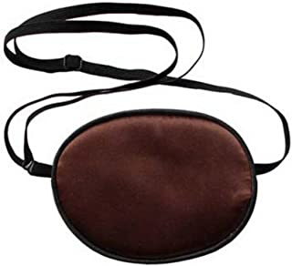 1pc Brown Silk Single Eye Patch Mask Amblyopia Corrected Visual Recovery Lazy Eyes Patches Care Shield Blindfold Cover For Masks Strabismus Kids Size Brown