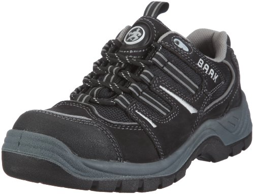BAAK Sicherheitsschuhe Peter Sports S3,rutschfeste ESD-Halbschuhe, Größe 48, schwarz, 7204