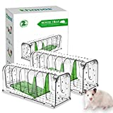 Thanos Mouse Traps Rat Traps Humane Mouse Trap Catch and Release Mouse Traps Reusable for Indoor/Outdoor Use Easy to Set Quick Effective Sanitary Kids/Pets Safe for Mice/Rodent Mouse Catcher 2 Pack