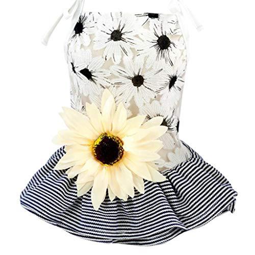 bismarckber Tutu Kleid, große Sonnenblume, für kleine und mittelgroße Hunde, Sommer, Prinzessinnen-Kleidung, Outfits