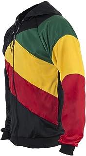 Reggae Jamaica Flag Sudadera con Cremallera Negro Jersey Chándal Rasta Ninos Top Sudadera