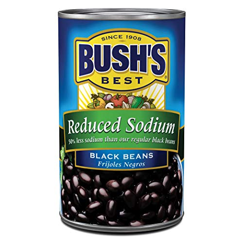 BUSH'S BEST Reduced Sodium Black Beans, 15 Ounce Can