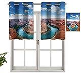 Hiiiman Cantonnière courte droite en forme de fer à cheval courbé du Nord Grand Canyon Page Arizona USA célèbres attractions touristiques, lot de 1, 91,4 x 45,7 cm pour fenêtres de cuisine