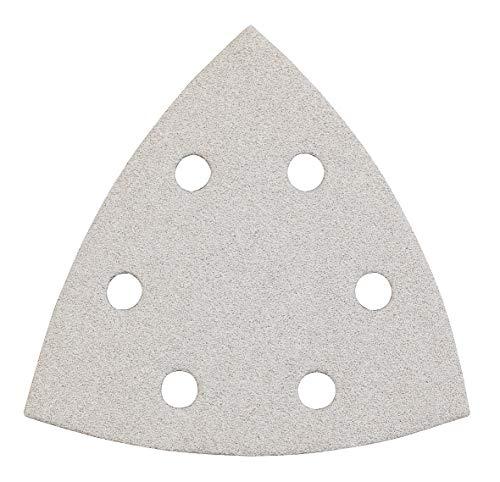 kwb Schleif-Dreieck für Delta- u. Multi-Schleifer - für Metall, Holz, Lack u. v. m., 93 mm, Zink-Stearat-Beschichtet, 93 mm , Korn K-40, 5 Stk., gelocht