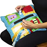Fidget Blanket- Fidget Pillowcase Cover for Those Suffering from Memory Loss and Dementia, by American Heritage Industries (Blue)