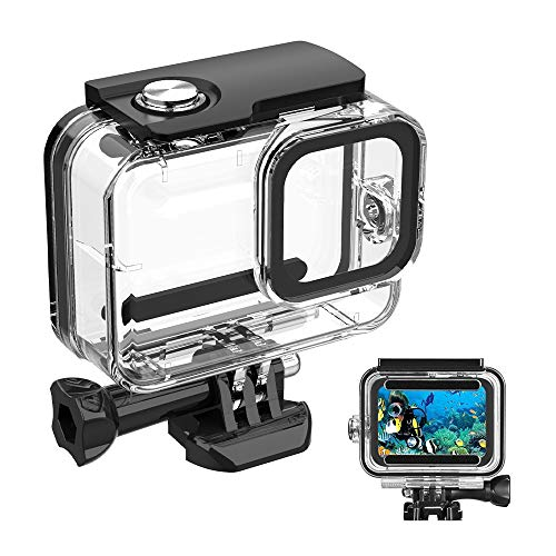60M/ 196FT Waterproof Case for Gopro Hero 8 Housing, HONGDAK Underwater Hero 8 Protective Housing Case Shell Bracket Gopro Hero8 Accessories, Diving Case for Go Pro Action Camera