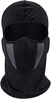 SPENCA Black Free Size Full Face Dust Proof Mask for Bike Cycle Balaclava for Men & Women(1 Piece)_Black_Cotton