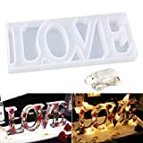 LET'S RESIN Resin Word Mold, Love Resin Mold, Silicone Resin Mold,Epoxy Resin Molds for DIY Table Decoration, with a Fairy Light,Perfect Gift Idea