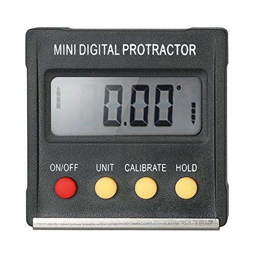 KKmoon Digital Winkelmesser Neigungsmesser Inclinometer Level Meter 0,1 Grad Auflösung und 4 * 90 Grad Range Bottom mit Magnet