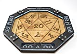 C4Labs Dice Tray~Wood with Laser Etched D20 Design for Games, Gaming