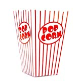 Bekith 100 Pack Paper Open-Top Popcorn Box, Popcorn Containers Striped...