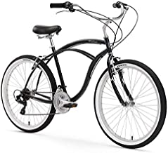 Firmstrong Urban Man Beach Cruiser Bike, Mens Bicycle 26-Inch, 3-Speed, Black
