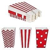 Cajas de palomitas de maíz 36 pcs Cartón Caramelo Contenedor para dulces para Cine Mesas de Postres Regalos de Boda Rojo