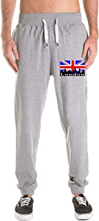 Printed British Flag London Skyline Adult Mens Sweatpants