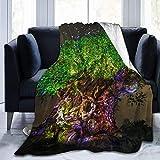 Throw Blanket Tree of Life Verde Ultra-Soft Micro Fleece Blanketow Manta de Cama súper Suave y acogedora para Cama Sofá Sofá Sala de Estar Playa Picnic Otoño Primavera Invierno Useow Manta