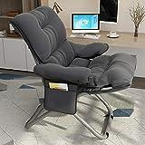 AAGYJ Tragbarer Home-Office-Stuhl, klappbarer Schreibtischstuhl, ergonomischer Gaming-Stuhl, weich und bequem, Boss-Computer-Stuhl, verdickender fauler Stuhl,Seat