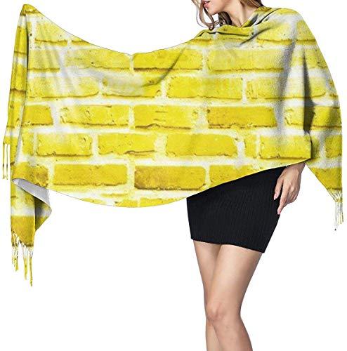 Baksteen Geel Baksteen Road Herhaal Patroon Zachte kasjmier Sjaal Wrap Sjaals Lange Sjaals Voor Vrouwen Office Party Reizen 68X196 cm