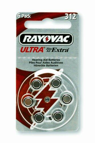 Rayovac pour appareils auditifs-r312 blister de 6 pièces