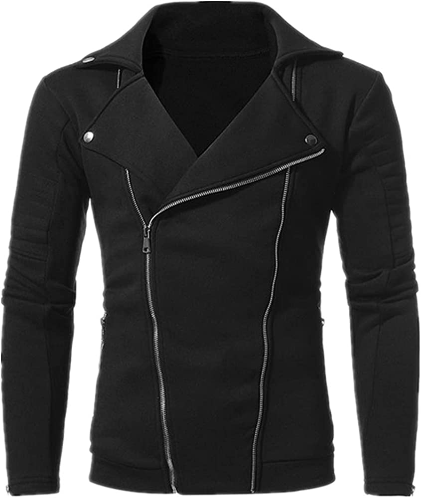 Men;s Double Tilted Zipper Turn-down Don't miss the campaign Color Collar Brand new Male Long Coat