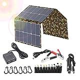 KKTECT Kit de cargador de batería de panel solar plegable de 120 vatios, carga de teléfonos, batería de automóvil de 12 V, computadoras portátiles, GPS, cámaras, etc. 1.85 kg, resistente al agua