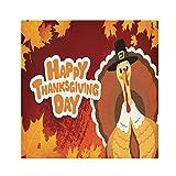 Alarge - Servilleta de tela con texto en inglés 'Happy Thanksgiving Day Pavo Arce', tamaño grande, lavable, reutilizable, poliéster, 4 unidades para decoración del hogar, cocina, fiesta