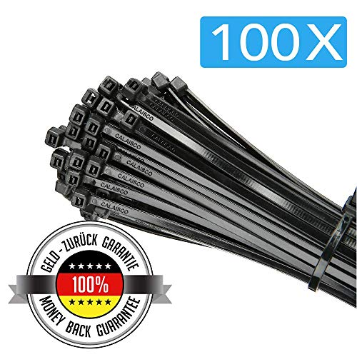 Black /& Natural LONG CABLE TIES // ZIP WRAPS 7.6mm 9.0mm /& 12.7mm Wide