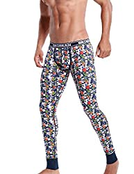 long underwear with flower pattern blue