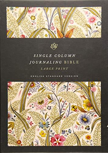 ESV Single Column Journaling Bible, Large Print (Summer Garden)