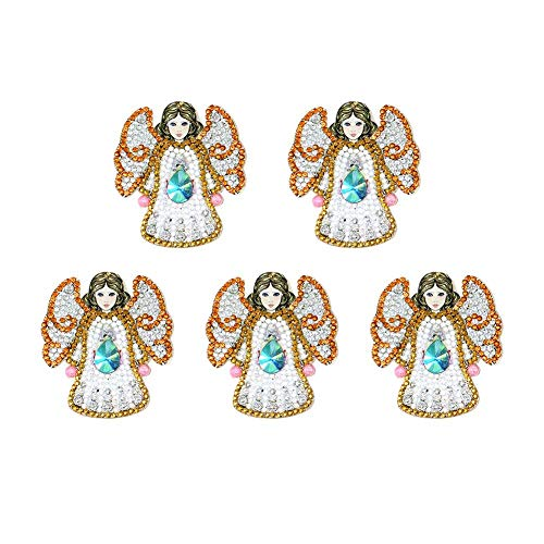 5pcs DIY Diamond Painting Keychains Full Drill Special Shaped Diamond Painting Angel Fashion Keyring