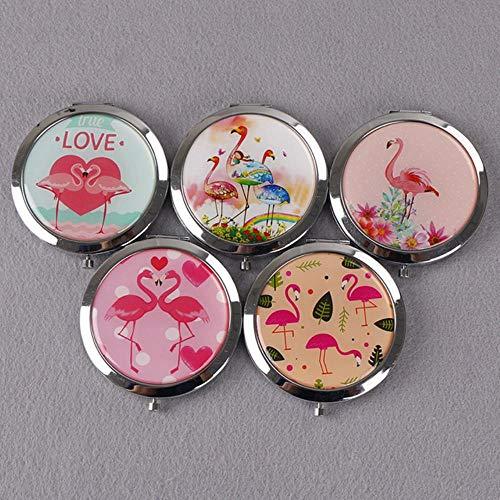 LASISZ Mini-miroirs Double Face Portable Compact Pocket Pocket Femmes Fille Cosmétique Petits Miroirs Compacts Miroir Pliant Miroir de Maquillage, 13