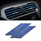Car Air Conditioner Decoration Strip for Vent Outlet, 20 Pieces Universal Waterproof Bendable Air Vent Outlet Trim Decoration, Suitable for Most Air Vent Outlet, Car Interior Accessories (Blue)